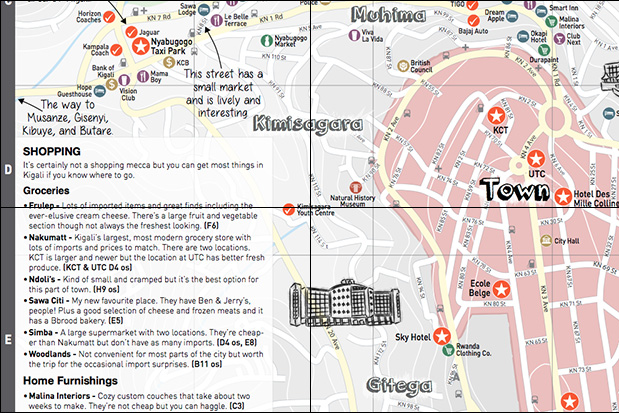 The Map Kigali Go Kigali Tours